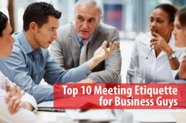 Top 10 Meeting Etiquette for Business Guys