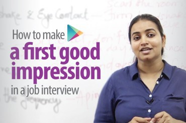 How to make a first good impression in a job interview?