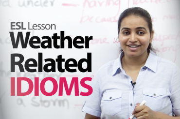 Weather related idioms, vocabulary & phrases