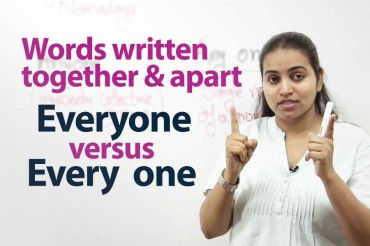 Words Written Together And Apart – English writing lesson