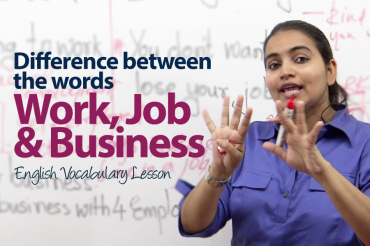 What's the difference between work, a job, and business?