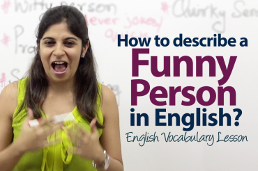 How do you describe someone who's funny in English?