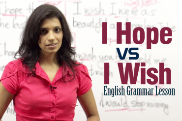 Difference between ' I Hope ' and ' I Wish ' – English Grammar lesson