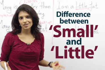 Difference between ' Small ' & ' Little ' – English Grammar Lesson