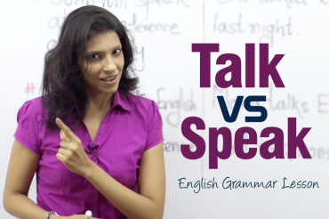 The difference between the verbs 'Speak' and 'Talk'