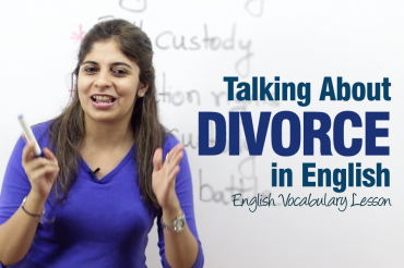 Speaking about a divorce in English!