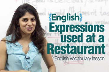 English expressions used at a fine-dine restaurant!