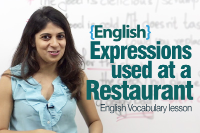 English expressions used at a fine-dine restaurant