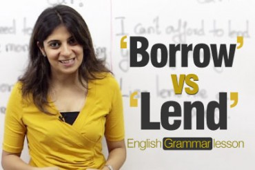 Confusing verb pairs- 'Borrow' and 'Lend'