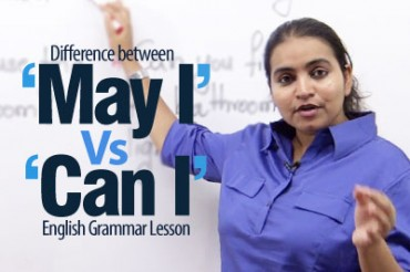 'May I' vs 'Can I' – English Grammar lesson
