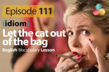 Let the cat out of the bag – English Vocabulary Lesson # 111