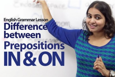 Difference between the prepositions IN and ON