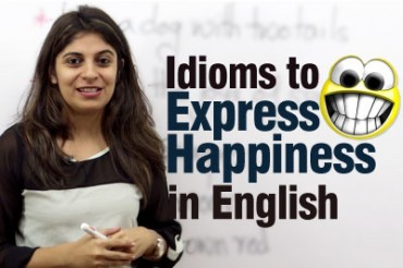 Idioms to express happiness in English