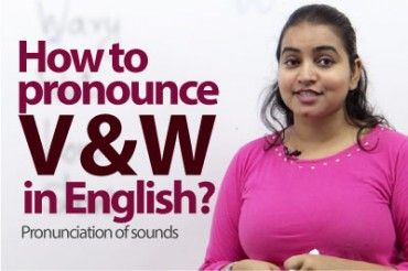 Pronunciation – V & W sound