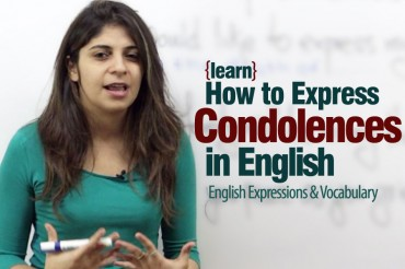 How to Express Condolences in English?