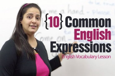 10 common English expressions used in daily conversation.