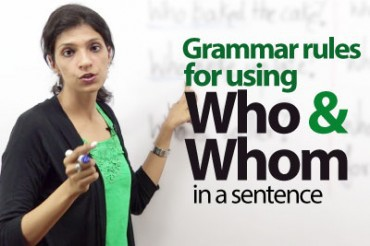 Using 'Who' or 'Whom' – ESL Lesson