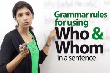 Using 'Who' or 'Whom' – ESL Lesson