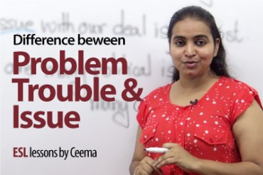 What is the difference between – Problem, Trouble & Issue?