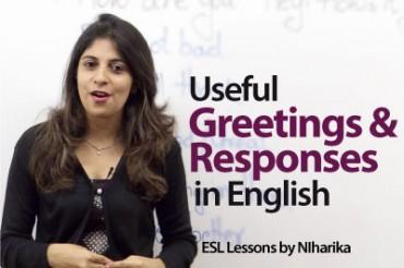 Useful English greetings and responses.
