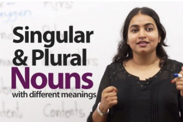 Nouns with Different Meanings in the Singular and the Plural