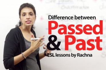 The difference between 'passed' and 'past'.