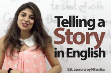 How to tell a story in English?
