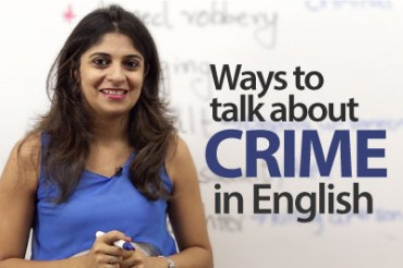 Ways to talk about crime in English.