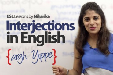 Using  Interjections in English.