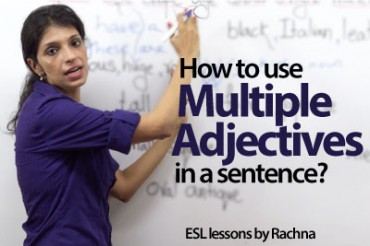 How to use multiple adjectives in a sentence?