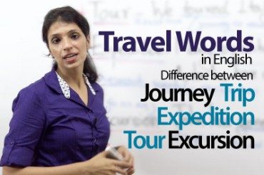 Using 'travel' words in English