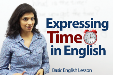 Expressing Time in English.