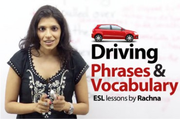 English Phrases to talk about 'Driving'