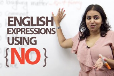 12 Spoken English Expressions with the Word 'NO'