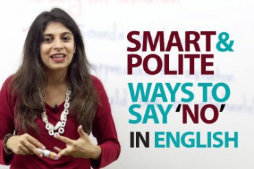 Smart and Polite ways to say 'NO' in English.