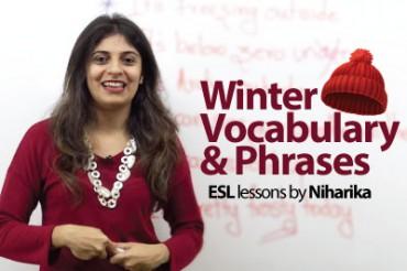 Winter Vocabulary & Phrases
