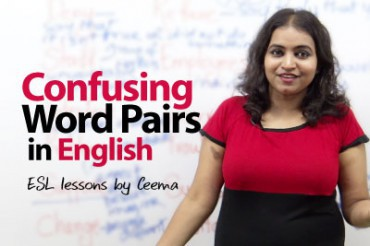 Confusing word pairs in English.