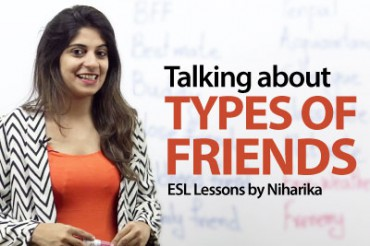 Types oF Friends – Vocabulary Lesson
