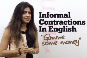 Informal Contractions in English.