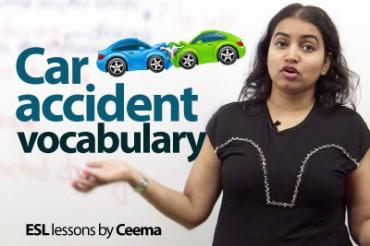Car Accident Vocabulary.