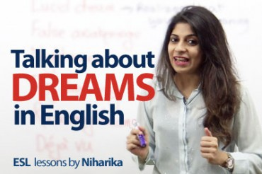 Talking about dreams in English.