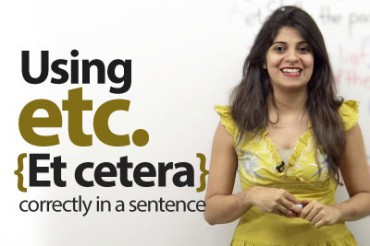 Using Etc., (Et cetera) correctly in English.