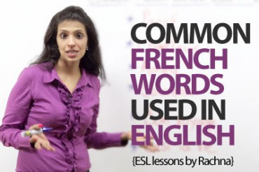 Common French words used in English.