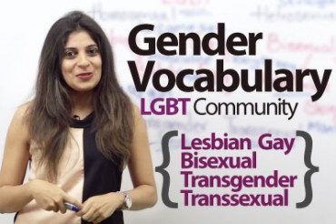 Gender Vocabulary – Talking about the LGBT community.