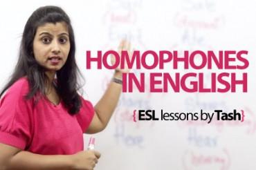Homophones in English.