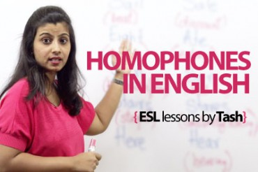 Homophones in English.