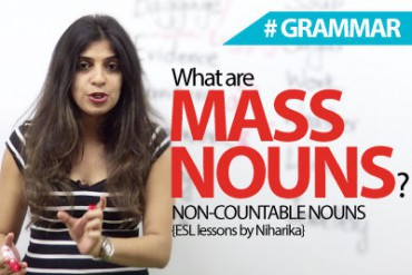 What are Mass nouns?