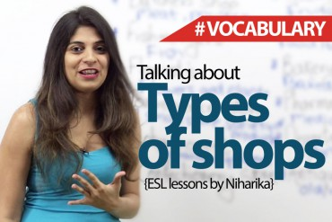Talking About Types of Shops in English.