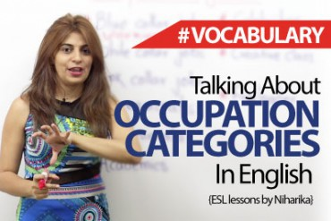Talking about occupation categories in English.