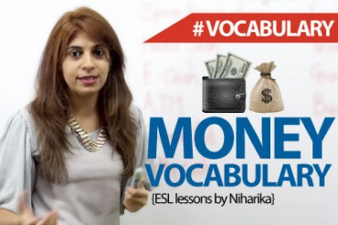 Money Vocabulary .